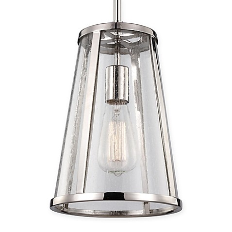 Feiss 1 Light Mini Pendant In Polished Nickel Bed Bath Beyond