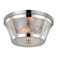 Feiss® Flush Mount 2-Light Ceiling Mount in Steel in Polished Nickel
