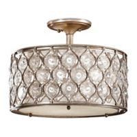 3-Light Semi Flush Mount in Burnished Silver