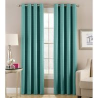 Cheshire 63-Inch Grommet Top Lined Window Curtain Panel in Teal