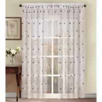 Astor 84-Inch Sheer Embroidered Rod Pocket Window Curtain Panel in Platinum