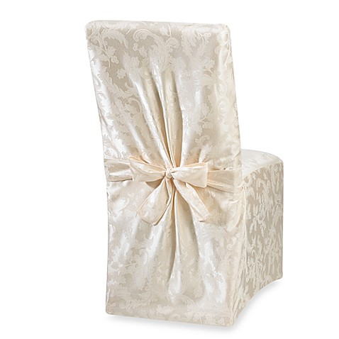 Winter Holly Ivory Dining Room Chair Cover