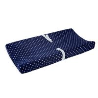 carter's® Star Velboa Changing Pad Cover in Navy/White