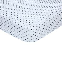 carter's® Stars Sateen Fitted Crib Sheet in Navy