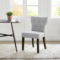 Madison Park Avila Tufted Back Dining Chairs in Grey (Set of 2)