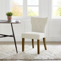Madison Park Avila Tufted Back Dining Chairs in Cream (Set of 2)