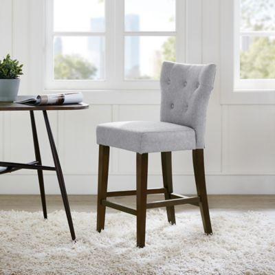 gray counter stools. Madison Park Avila Tufted Back Counter Stool In Grey Gray Stools