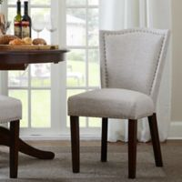 Madison Park Nate Dining Chair in Cream (Set of 2)