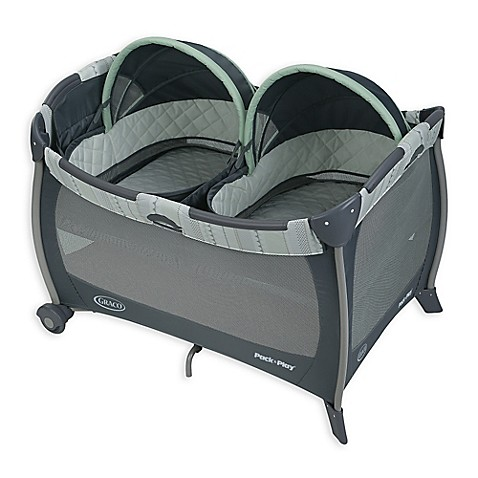 Graco Pack n Play Playard with Twin Bassinets in Mason