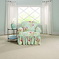 Sure Fitu0026reg; Ballad Bouquet By Waverlyu0026trade; T Cushion Chair Slipcover