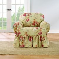 Sure Fit® Ballad Bouquet by Waverly™ T-Cushion Chair Slipcover in Blush