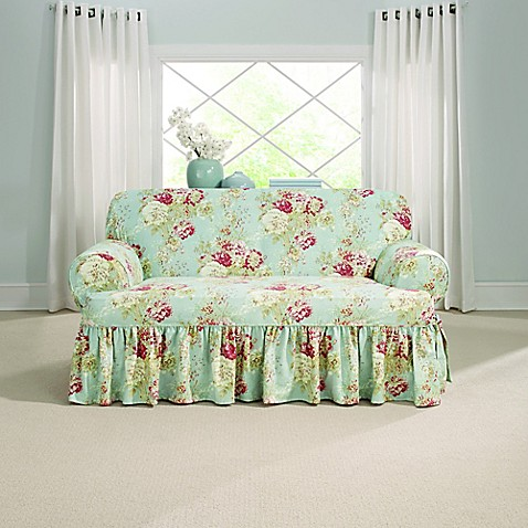 Sure Fit 174 Ballad Bouquet By Waverly T Cushion Loveseat