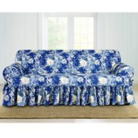 Sure Fit® Ballad Bouquet by Waverly™ T-Cushion Sofa Slipcover in Indigo