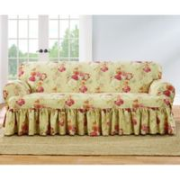 Sure Fit® Ballad Bouquet by Waverly™ T-Cushion Sofa Slipcover in Blush