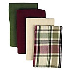 Homespun Kitchen Towels 4-Pack in Plaid