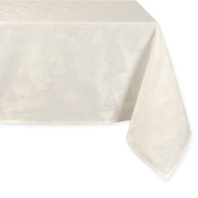 Exceptional Holiday Trees Winter 60 Inch Round Tablecloth In Ivory