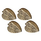 Leaf Napkin Rings in Gold/Brass (Set of 4)