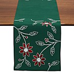 Design Imports 70-Inch Poinsettia Embroidered Table Runner