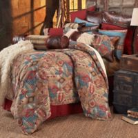 HiEnd Accents Ruidoso Queen Comforter Set in Turquoise