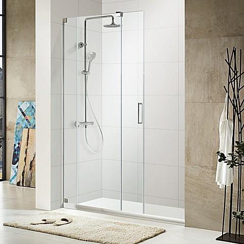 Oasis 48 Inch X 72 Inch Frameless Sliding Shower Door In Chrome
