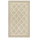 Classic Border Fret 1-Foot 8-Inch Accent Rug in Cream
