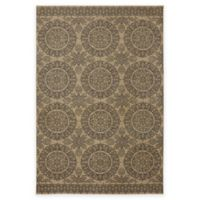 Karastan Pacifica Leawood 5-Foot 3-Inch x 7-Foot 10-Inch Area Rug in Tan