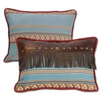 HiEnd Accents Ruidoso Fringe Oblong Throw Pillow in Turquoise