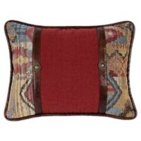 HiEnd Accents Ruidoso Striped Oblong Throw Pillow in Red
