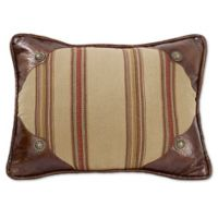 HiEnd Accents Ruidoso Striped Oblong Throw Pillow in Tan
