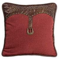 HiEnd Accents Ruidoso Striped Square Throw Pillow in Red