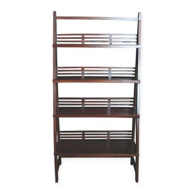 sterling industries solano wooden shelf in mahogany - Mahogany Bookshelves