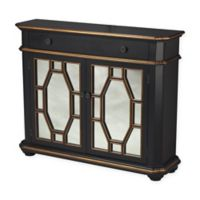 Sterling Industries Presidio Cabinet in Black/Gold