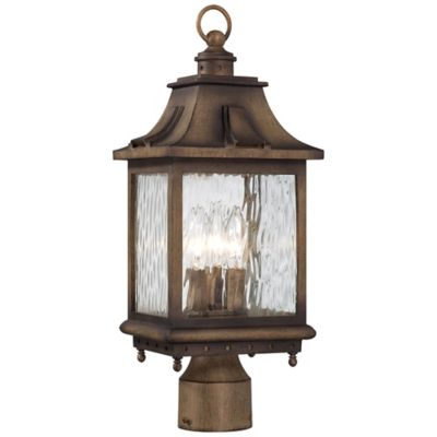 Buy decorative outdoor light posts from bed bath beyond minka lavery wilshire park 3 light post mount in portsmouth bronze aloadofball Gallery