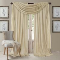 Elrene Athena 95-Inch Rod Pocket Window Curtain Panels and Scarf Valance Set in Ivory