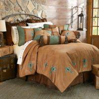 HiEnd Accents Las Cruces II Queen Comforter Set in Tan