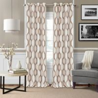Elrene Renzo 95-Inch Room-Darkening Grommet Top Window Curtain Panel in Natural