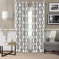 Elrene Renzo 84-Inch Room-Darkening Grommet Top Window Curtain Panel in Slate Grey