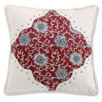 HiEnd Accents Bandera Floral Square Throw Pillow in Red