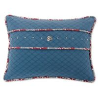 HiEnd Accents Bandera Oblong Throw Pillow in Blue