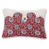 HiEnd Accents Bandera Floral Oblong Throw Pillow in Red