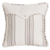 HiEnd Accents Gramercy Linen Envelope Square Throw Pillow in Cream