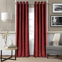 Elrene Victoria 95-Inch Room-Darkening Grommet Top Window Curtain Panel in Red