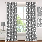 Elrene Emery 63-Inch Room-Darkening Grommet Top Window Curtain Panel in Grey
