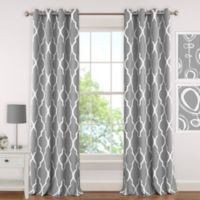 Elrene Emery 84-Inch Room-Darkening Grommet Top Window Curtain Panel in Grey