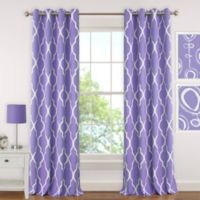Elrene Emery 84-Inch Room-Darkening Grommet Top Window Curtain Panel in Purple