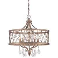 Minka Lavery® West Liberty 21-Inch 6-Light Chandelier in Olympus Gold