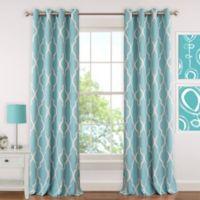 Elrene Emery 84-Inch Room-Darkening Grommet Top Window Curtain Panel in Aqua