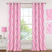Elrene Emery 84-Inch Room-Darkening Grommet Top Window Curtain Panel in Light Pink