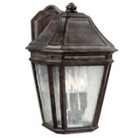 Feiss® Londontowne Large 3-Light Outdoor Wall Sconce in Weathered Chestnut