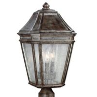 Feiss® Londontowne 3-Light Outdoor 19-1/2-Inch Post Light in Weathered Chestnut